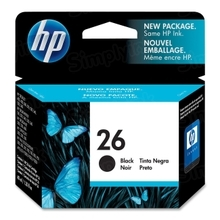 Original HP 26 Black Ink Cartridge in Retail Packaging (51626A)