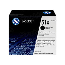 HP 51X (Q7551X) Black High Yield Original Toner Cartridge in Retail Packaging