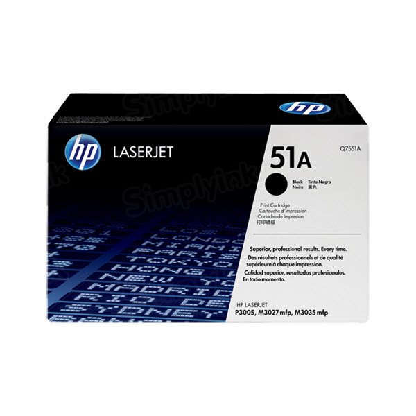 Original HP Q7551A (51A) Black Toner