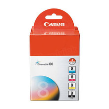 Canon CLI-8 OEM Ink Cartridge Color 4-Pack, 0620B010