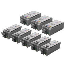Compatible Canon Bulk Set of 8 PGI35 and CLI36 Ink Cartridges 5 Black PGI35 (1509B002) and 3 Color CLI36 (1511B002)) for the PIXMA iP100