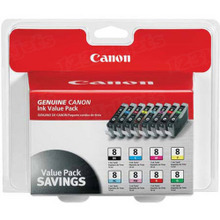Canon CLI-8 OEM Ink Cartridge Color 8-Pack, 0620B015