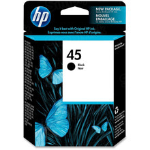 Original HP 45 Black Ink Cartridge in Retail Packaging (51645A)