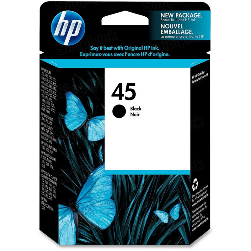 HP 45 Black Original Ink Cartridge 51645A