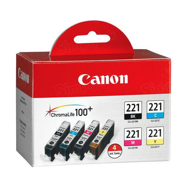 Canon CLI-221 Color OEM Ink Cartridge 4PK