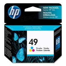 Original HP 49 Tri-Color Ink Cartridge in Retail Packaging (51649A)