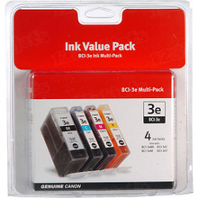 Canon BCI-3e OEM Ink Cartridge Color 4-Pack, 4479A230