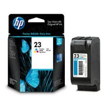 Original HP 23 Tri-Color Ink Cartridge in Retail Packaging (C1823D)