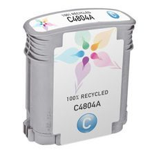 Remanufactured Replacement Ink Cartridge for Hewlett Packard C4804A (HP 12) Cyan