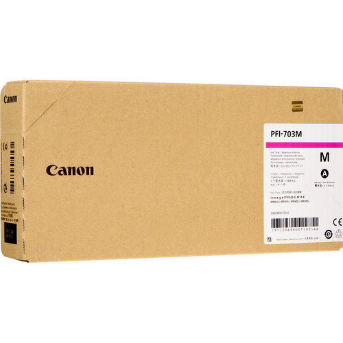 Canon PFI-707M Magenta 700ml Ink Cartridge, OEM