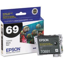 Original Epson 69 Black Inkjet Cartridge (T069120), Standard-Capacity