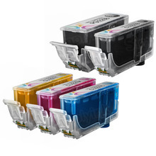 Canon PGI-220 & CLI-221: 1 Pigment Black PGI-220 & 1 Each of CLI-221 Black, Cyan, Magenta, Yellow (Compatible Set of 5 Ink Cartridges)