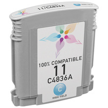 Remanufactured Replacement Ink Cartridge for Hewlett Packard C4836AN (HP 11) Cyan