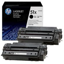 HP 51X (Q7551XD) Black High Yield Original Toner Cartridge in Retail Packaging