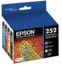 Original Epson 252 OEM Ink Cartridge Color 4-Pack, T252120-BCS, BK/C/M/Y