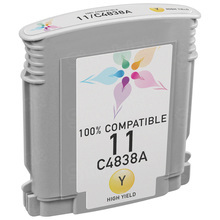 Remanufactured Replacement Ink Cartridge for Hewlett Packard C4838AN (HP 11) Yellow