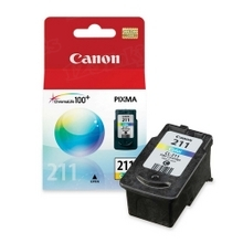 Canon CL-211 Tri-Color OEM Ink Cartridge, 2976B001