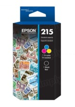 Original Epson 215 Ink Cartridges Twin Pack, T215120-BCS, Black and Color