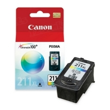 Canon CL-211XL Tri-Color OEM High-Yield Ink Cartridge, 2975B001