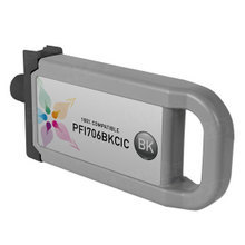 Compatible PFI-706BK Canon (6681B001AA) 700ml Black Ink Cartridges