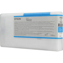 OEM T653200 (T6532) Epson 200ml Cyan Ultrachrome HDR Ink Cartridge