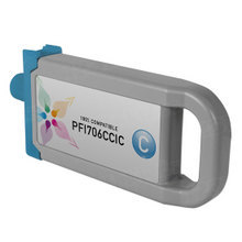 Compatible PFI-706C Canon (6682B001AA) 700ml Cyan Ink Cartridges