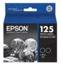 Original Epson 125 Black Inkjet Cartridge (T125120-D2), Twin Pack