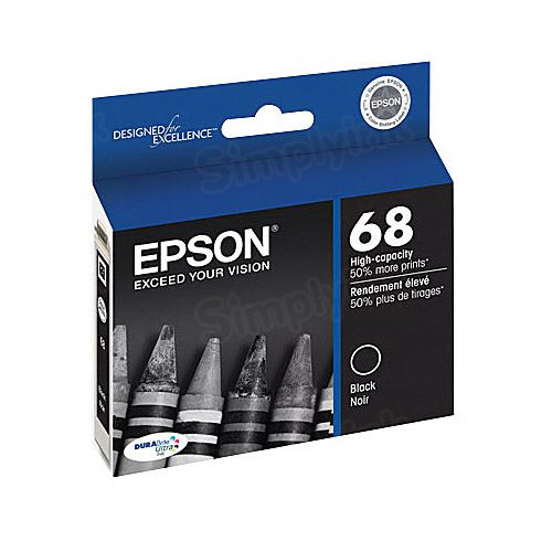 Epson 68 Black OEM Ink Cartridge (T068120)