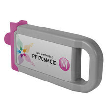 Compatible PFI-706M Canon (6683B001AA) 700ml Magenta Ink Cartridges