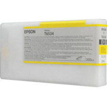 OEM T653400 (T6534) Epson 200ml Yellow Ultrachrome HDR Ink Cartridge