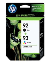 Genuine HP 92 Black and 93 TriColor Combo Ink Pack in Retail Packaging, (C9513FN)