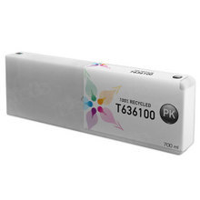 Remanufactured Replacement for Epson T636100 (T6361) Photo Black Ink Cartridges, 700 ml
