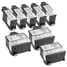 Compatible Kodak Bulk Set of 8 # 10 Ink Cartridges 5 High Yield Black (8237216) and 3 Color (8946501)