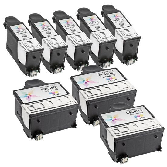 Kodak #10XL Set of 8 Inkjet cartridges