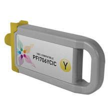 Compatible PFI-706Y Canon (6684B001AA) 700ml Yellow Ink Cartridges