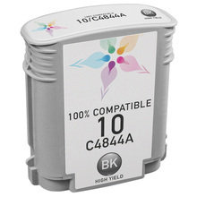 Remanufactured Replacement Ink Cartridge for Hewlett Packard C4844A (HP 10) High-Yield Black