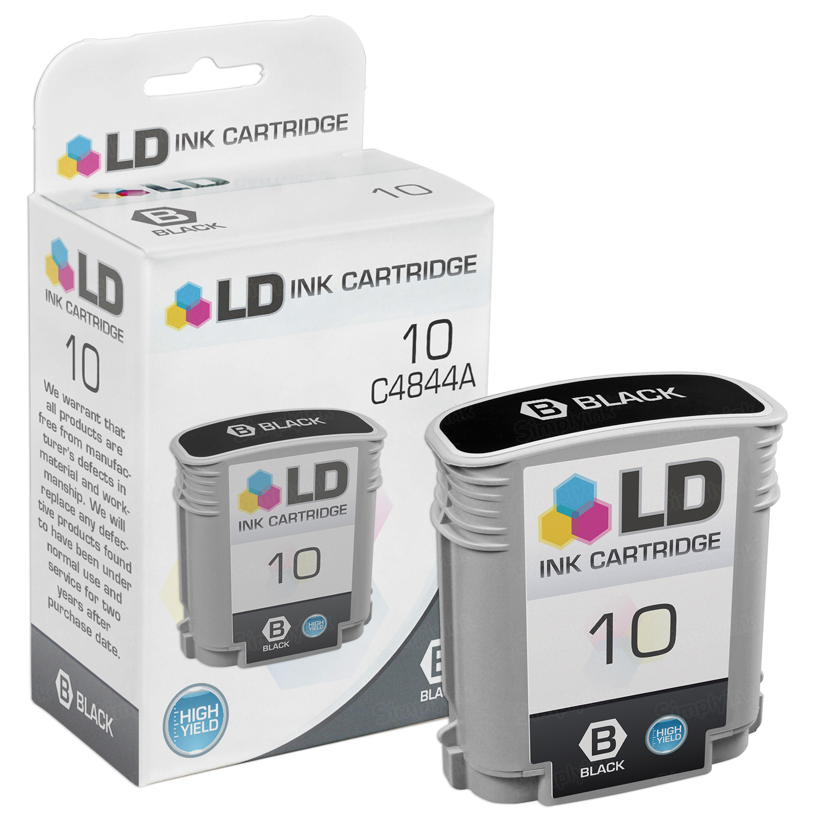 Remanufactured Replacement HY Black Ink for HP 10
