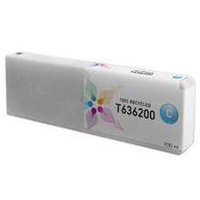 Remanufactured Replacement for Epson T636200 (T6362) Cyan Ink Cartridges, 700 ml