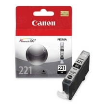 Canon CLI-221BK Black OEM Ink Cartridge, 2946B001