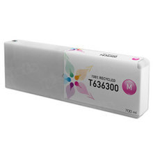 Remanufactured Replacement for Epson T636300 (T6363) Magenta Ink Cartridges, 700 ml