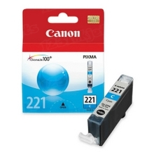 Canon CLI-221C Cyan OEM Ink Cartridge, 2947B001
