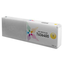 Remanufactured Replacement for Epson T636400 (T6364) Yellow Ink Cartridges, 700 ml