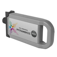 Compatible PFI-706MBK Canon (6680B001AA) 700ml Matte Black Ink Cartridges