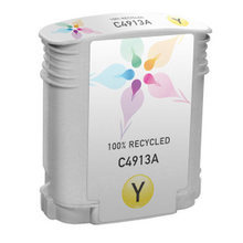 Remanufactured Replacement Ink Cartridge for Hewlett Packard C4913A (HP 82) Yellow