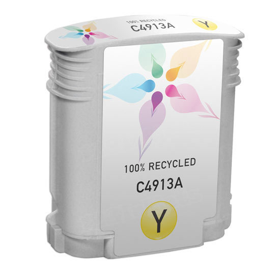 Remanufactured Replacement Yellow Ink for HP 82