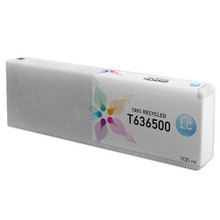 Remanufactured Replacement for Epson T636500 (T6365) Light Cyan Ink Cartridges, 700 ml