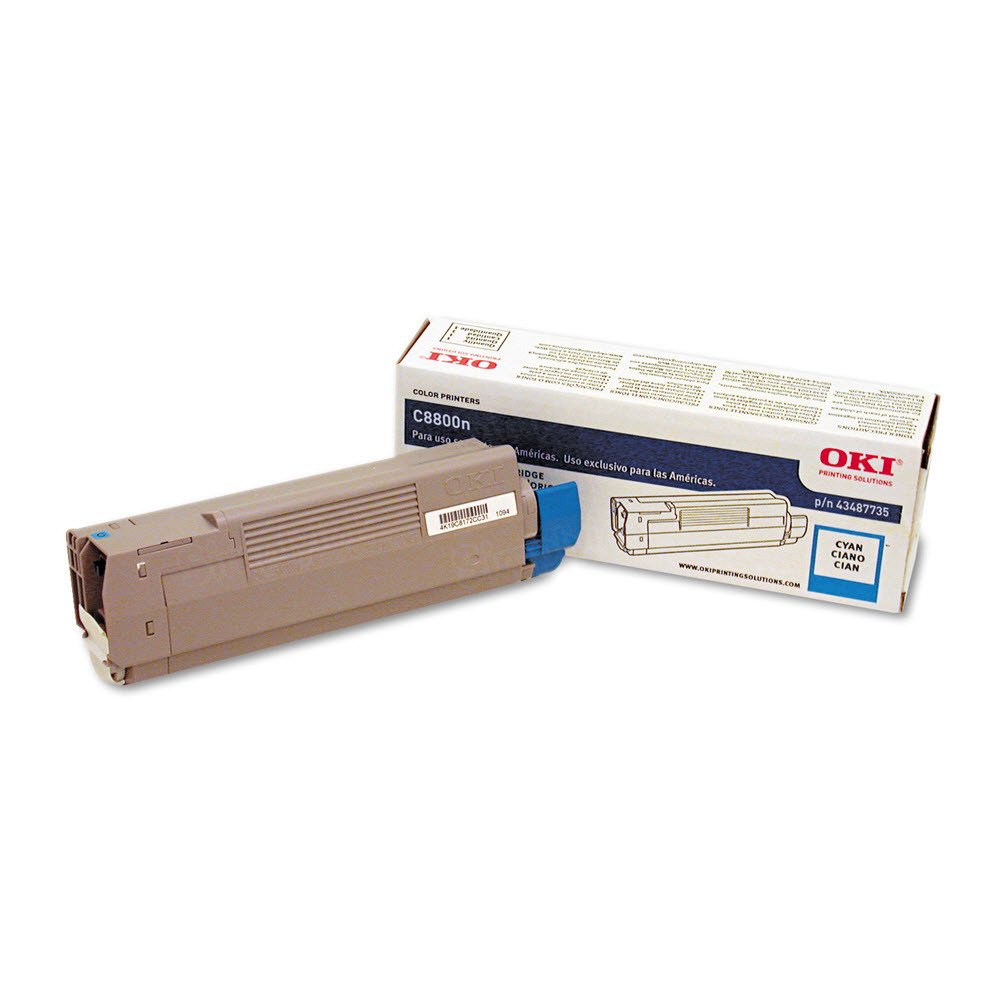 OEM Okidata 43487735 Cyan Toner Cartridge