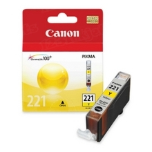 Canon CLI-221Y Yellow OEM Ink Cartridge, 2949B001