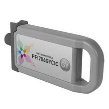 Compatible PFI-706GY Canon (6690B001AA) 700ml Gray Ink Cartridges