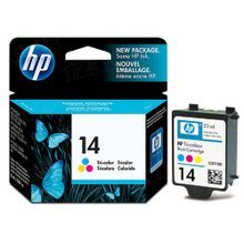 Original HP 14 Tri-Color Ink Cartridge in Retail Packaging (C5010DN)